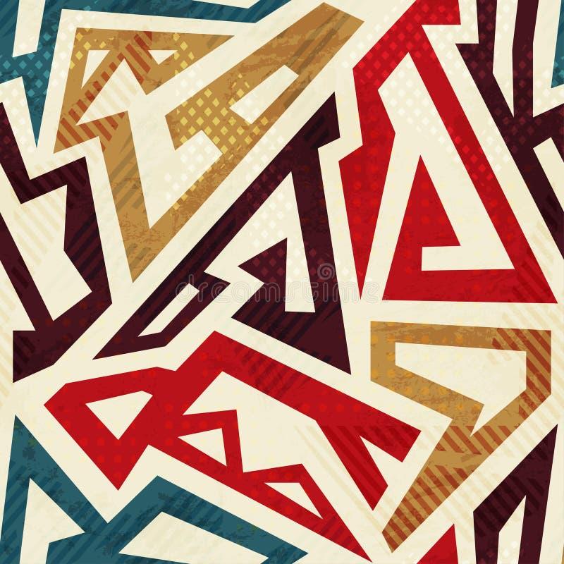seamless aztec modell royaltyfri illustrationer