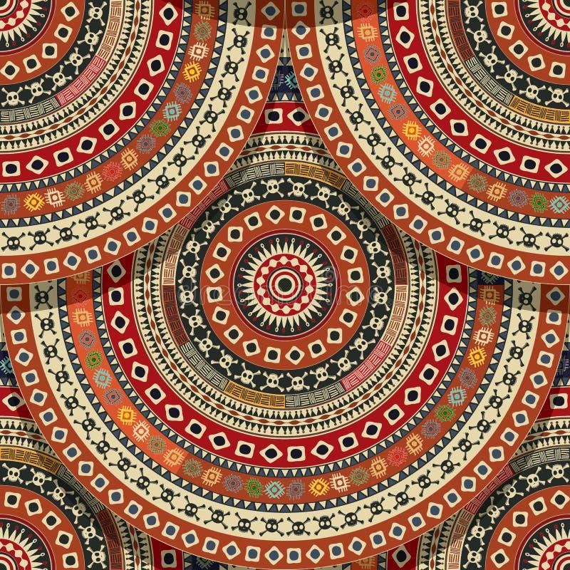 Seamless Aztec pattern vector illustration