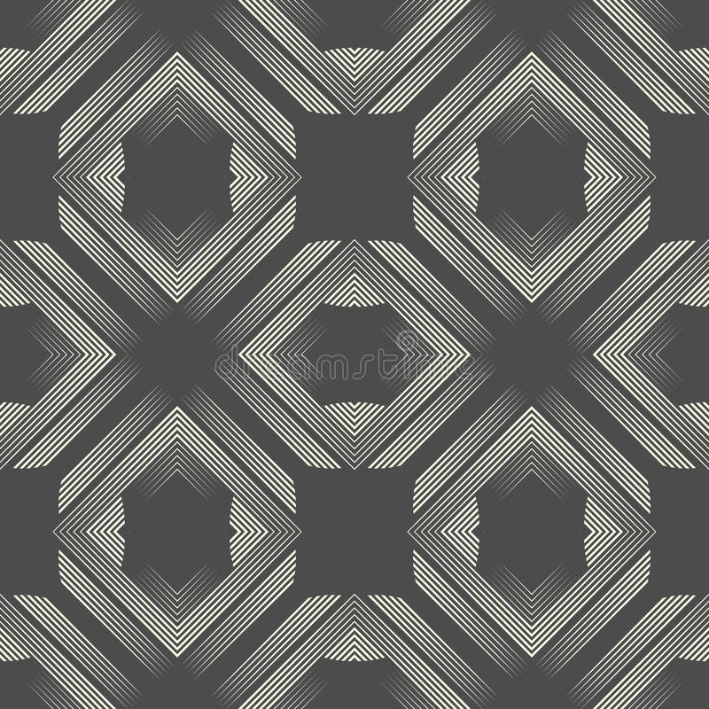 Seamless Aztec Texture. Abstract Endless Gradient Pattern royalty free illustration