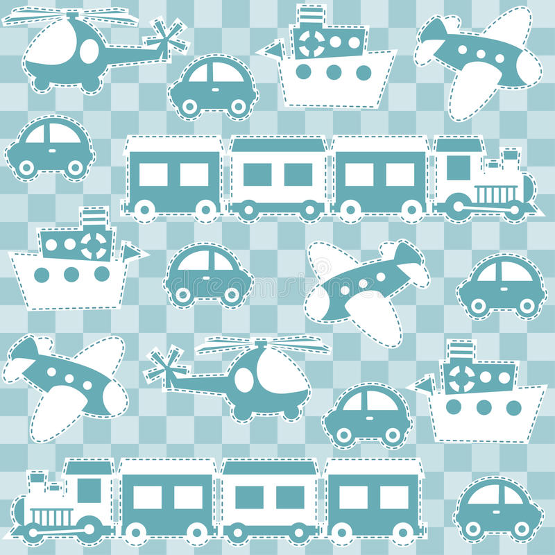 Download Seamless Baby Background With Toys Stock Vector - Illustration of wallpaper, train: 24663913
