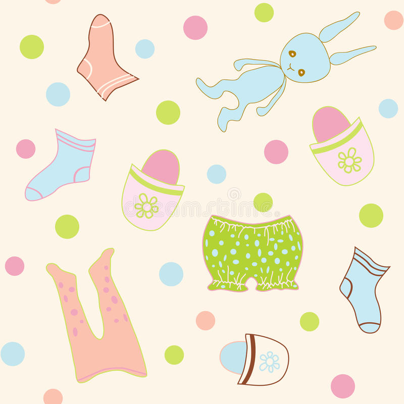 Seamless Baby clothing vector illustration