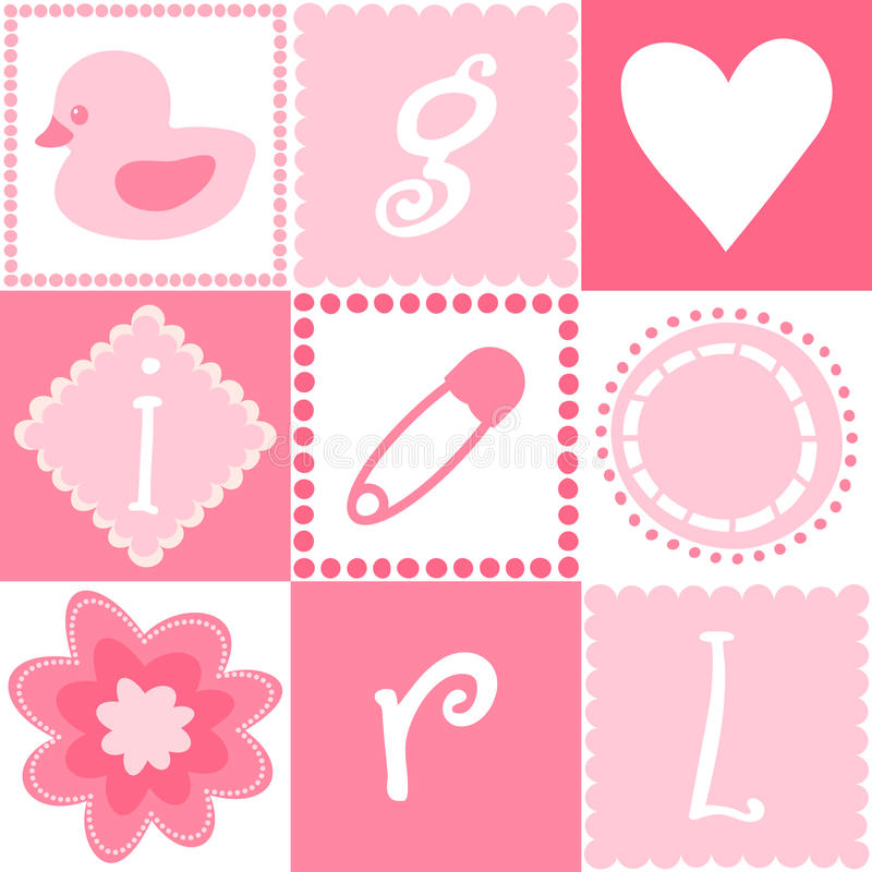 Download Seamless Baby Girl Background Stock Vector - Image: 23014600