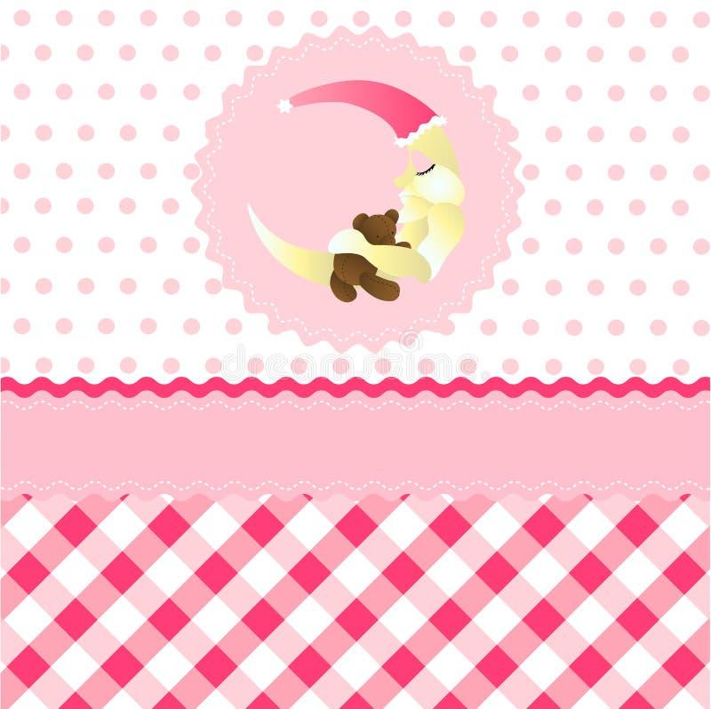 Seamless baby girl pattern stock illustration