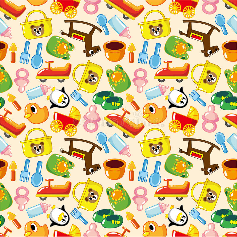 Seamless baby pattern royalty free illustration