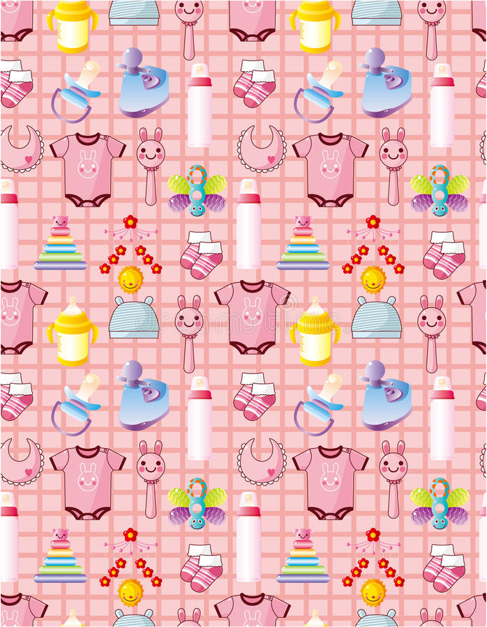Seamless baby thing pattern
