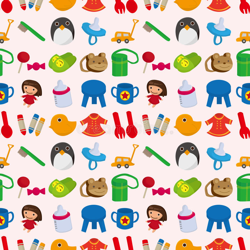 Download Seamless baby toy pattern stock vector. Image of child - 27936548