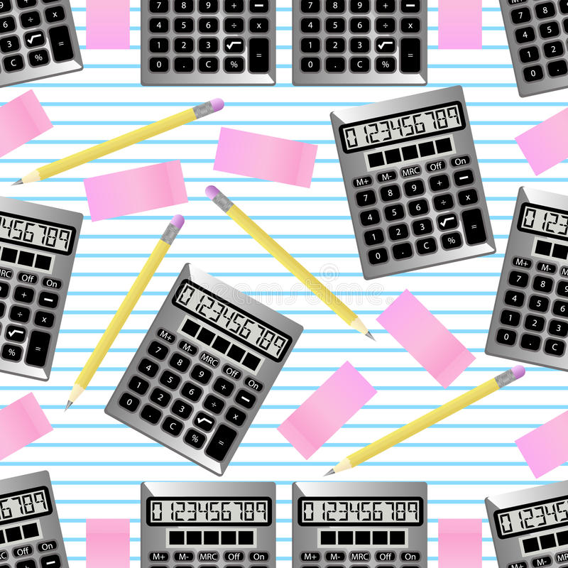 Seamless Back to School Background royalty free illustration