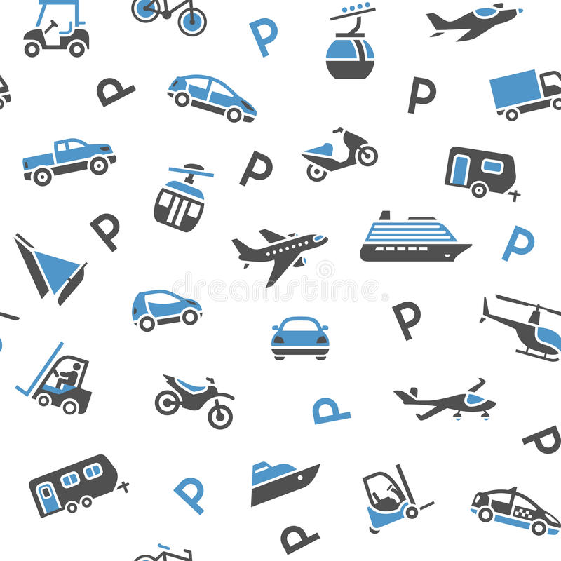 Seamless backdrop transport icons. Wrapping paper, 10eps royalty free illustration
