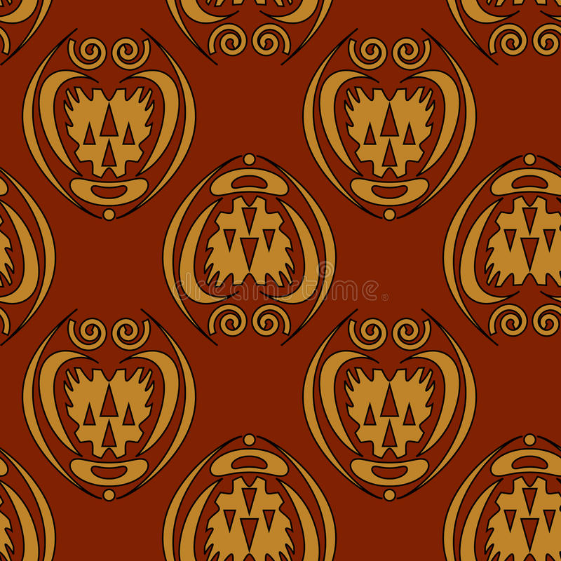 Seamless background. Abstract seamless pattern on dark red background - vector illustration. You can use it to fill your own background stock illustration