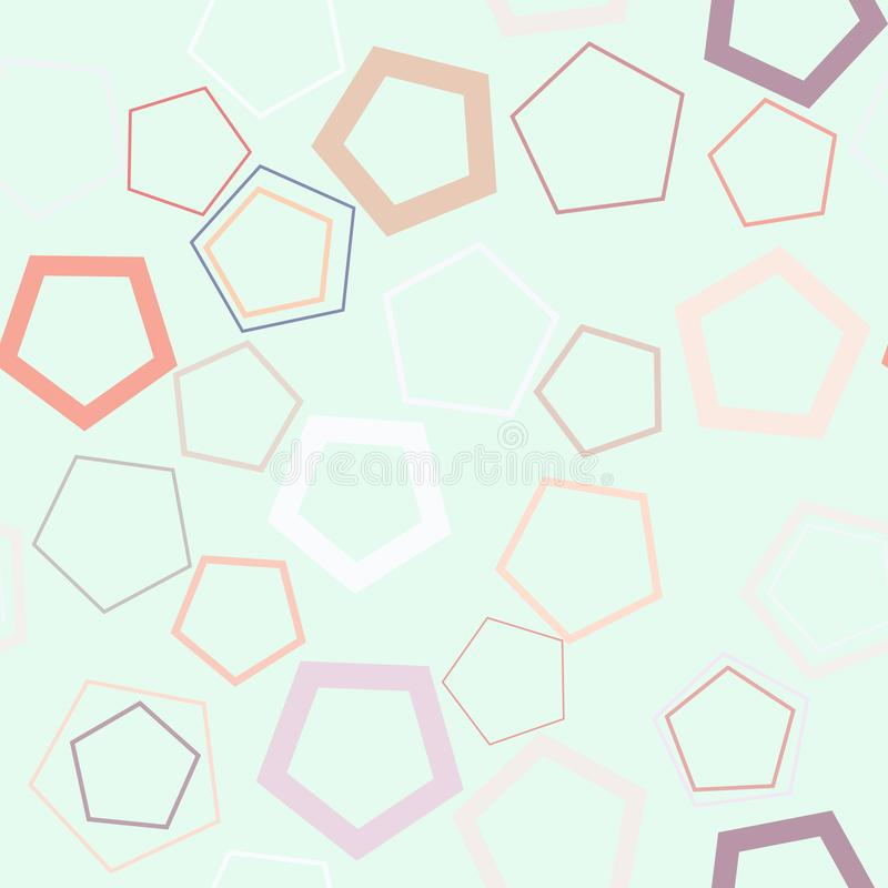 Seamless background abstract geometric pentagon pattern for design. Art, details, concept & effect. stock illustration