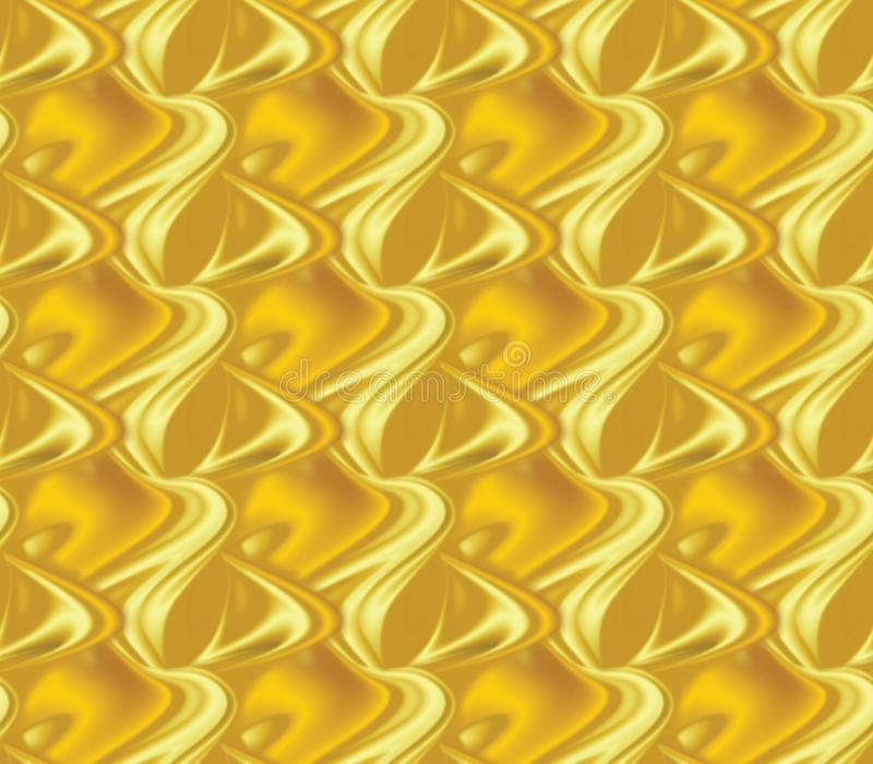 Seamless background, that looks like Golden fish scales royalty free stock image