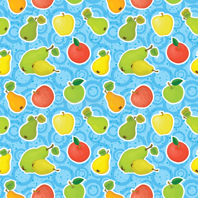 Seamless Background, Apples And Pears Royalty Free Stock Images