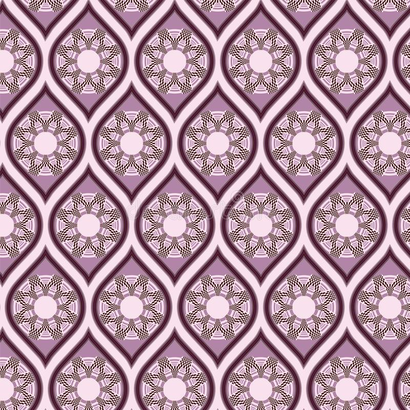Seamless background in arabesque style. May be useful for print, fabric, wrapping, packing, tapestry, craftsmanship, scrap-booking stock illustration
