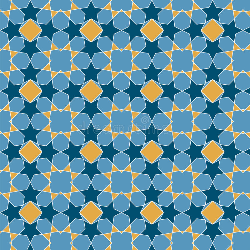 Seamless background in arabian style. Is Vector Illustration. May be useful for print, fabric, wrapping, packing, tapestry, craftsmanship, scrap-booking vector illustration