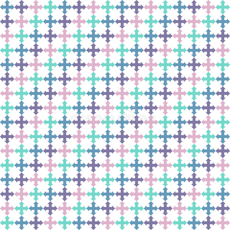 Seamless background with arrows. Endless texture can be used for printing onto fabric, paper or scrap booking, wallpaper, pattern fills, web page background royalty free illustration