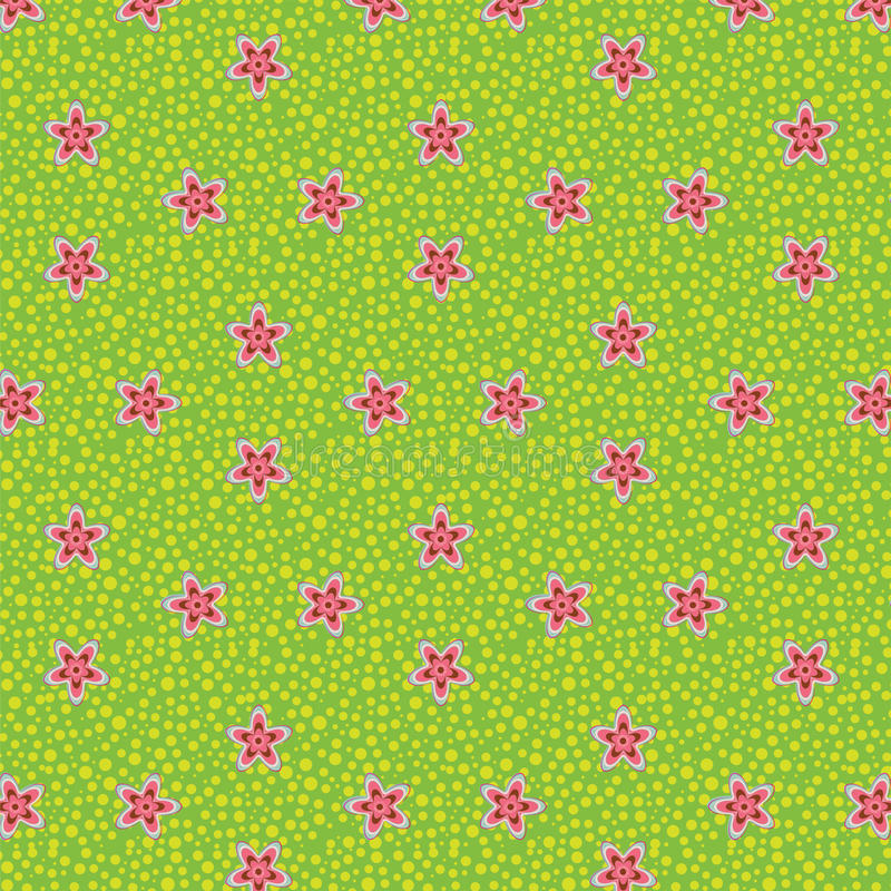 Seamless background as a flowering meadow. Is illustration. May be useful for print, fabric, wrapping, packing, tapestry, craftsmanship, scrap-booking vector illustration