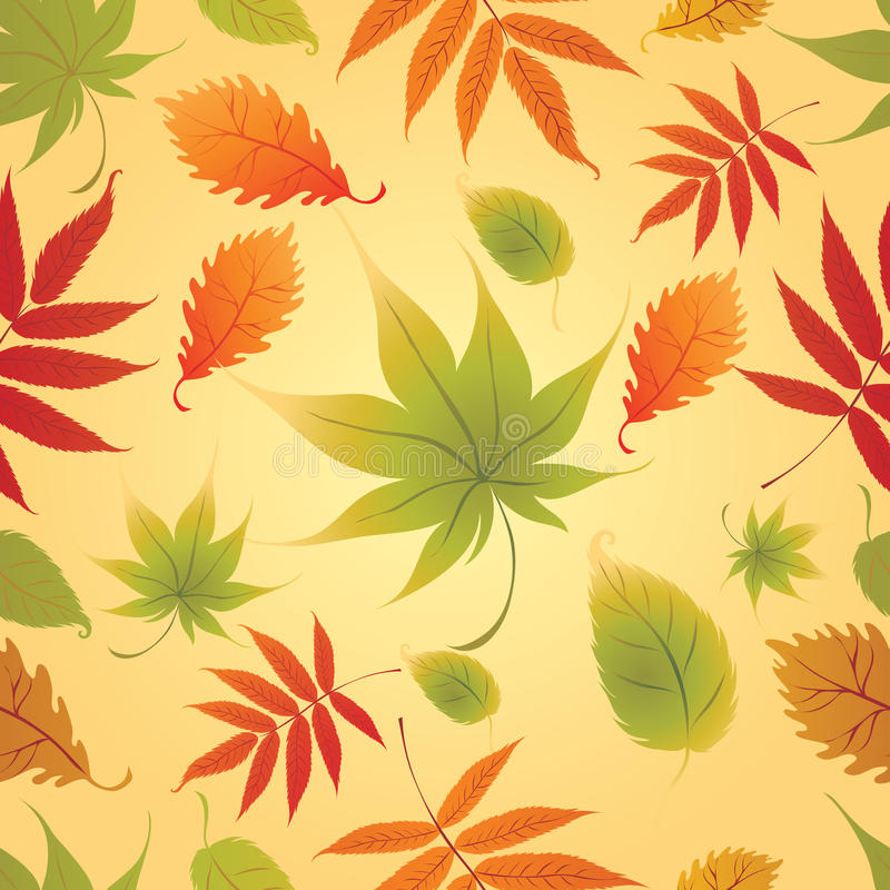 Seamless Background - Autumn Leaves. Thanksgiving stock illustration