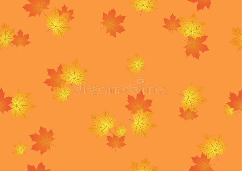 Download Seamless Background From Autumn Maple Leaves Stock Vector - Illustration of autumn, leaves: 21351660