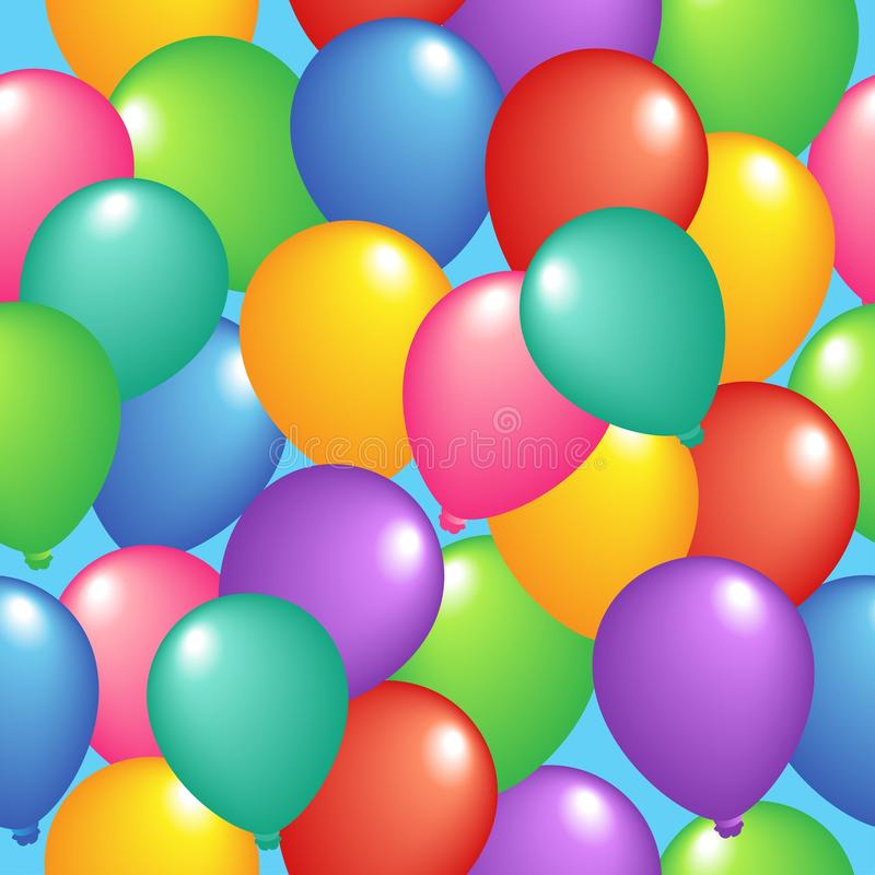 Seamless background with balloons 1 vector illustration