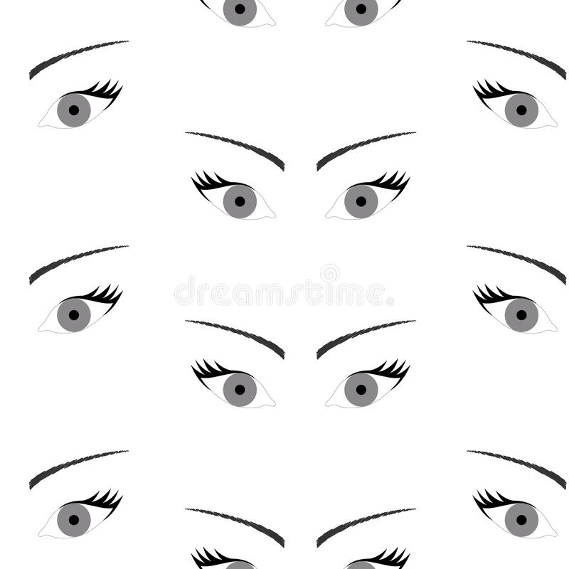 Seamless background with beautiful eyes endless eye pattern stock download seamless background with beautiful eyes endless eye pattern stock vector illustration of human ccuart Choice Image