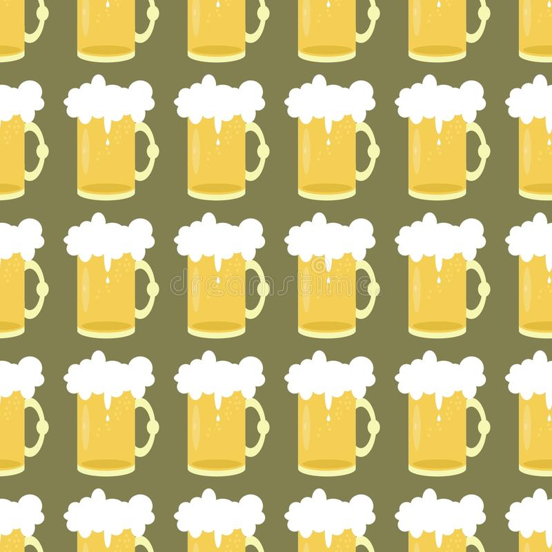 seamless background with beer stock illustration