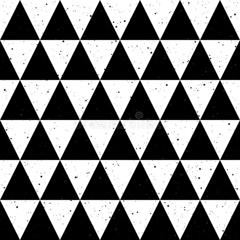 Seamless background black and white triangle vector vector illustration