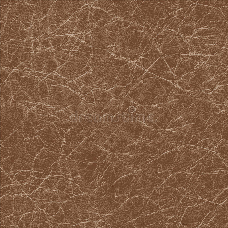 Seamless background of brown leather texture. Seamless brown natural leather texture, detalised vector background vector illustration