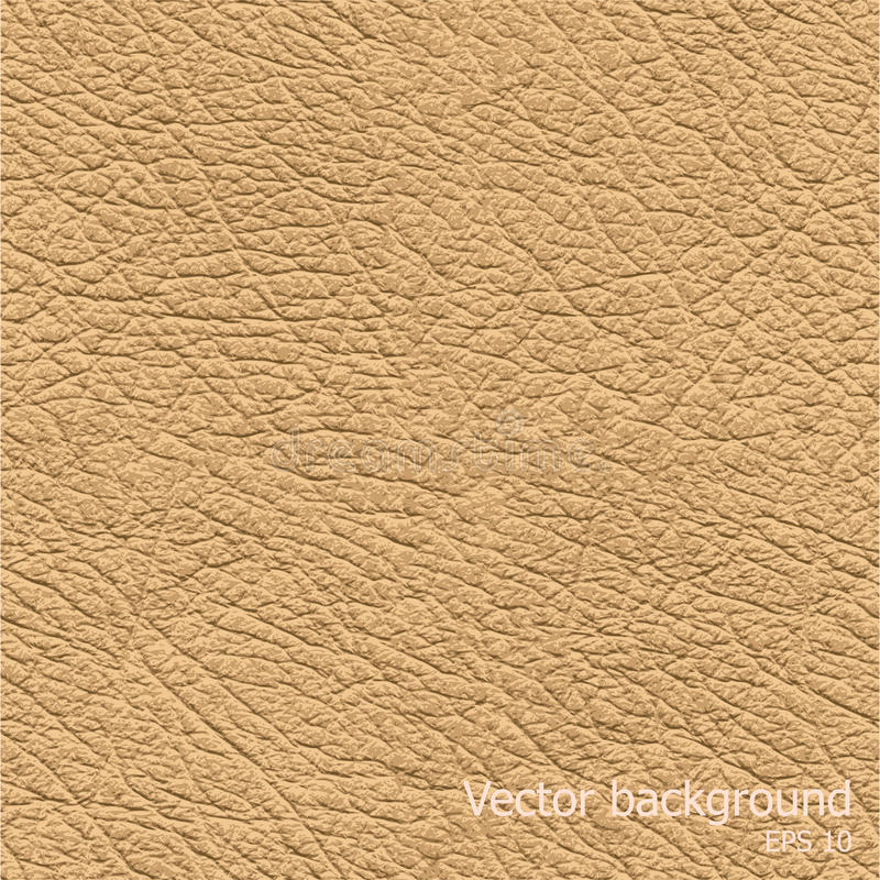 Seamless background of brown leather texture. Seamless brown natural leather texture, detalised vector background royalty free illustration