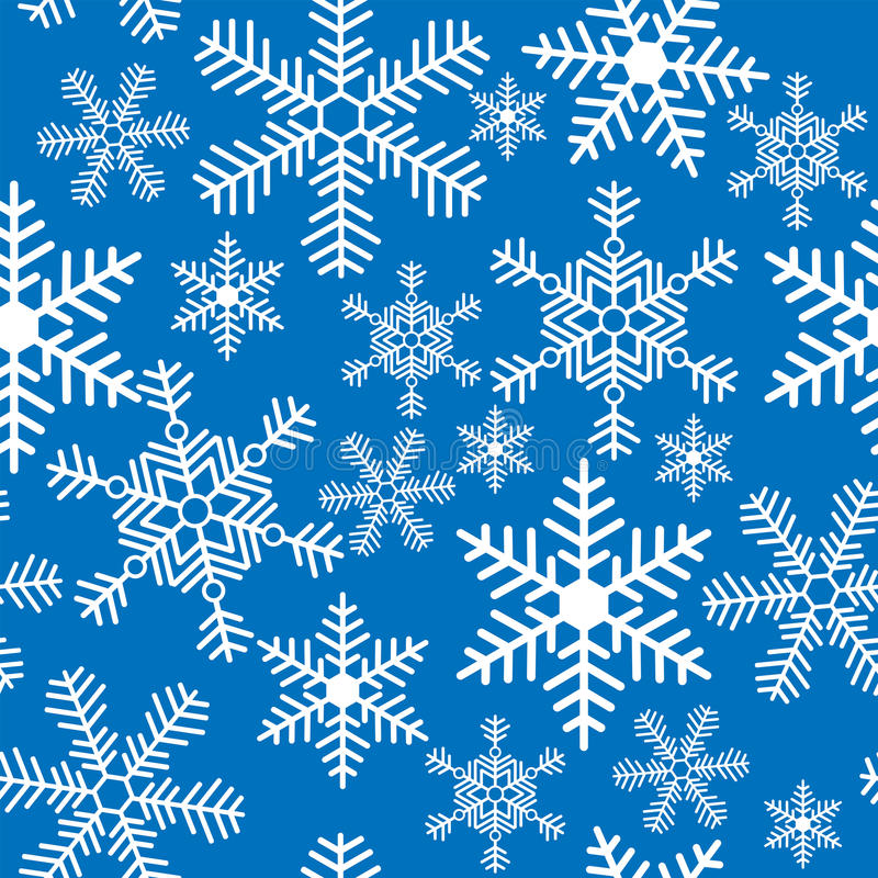 Seamless background with Christmas snowflakes royalty free illustration