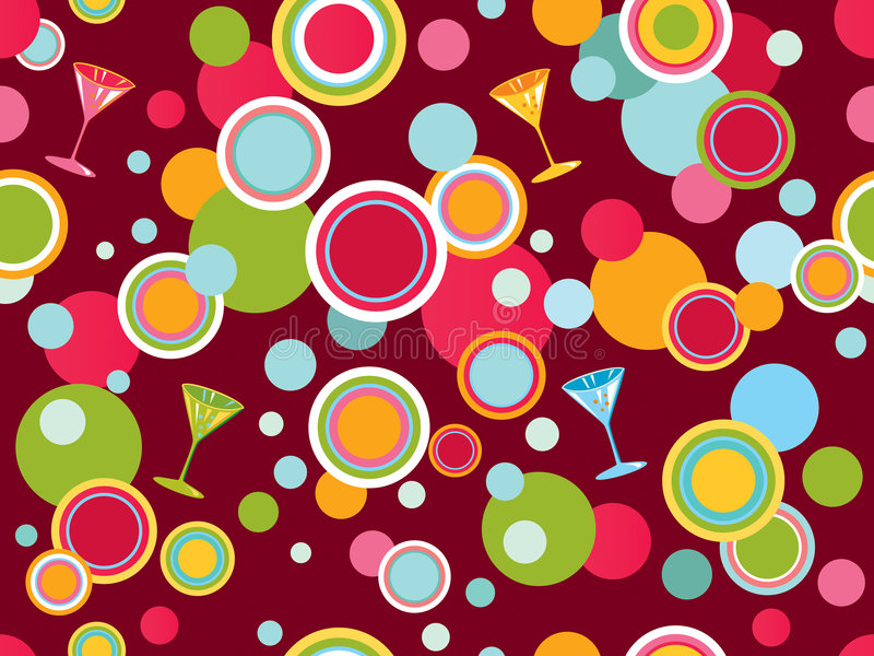 Seamless background with circles royalty free illustration