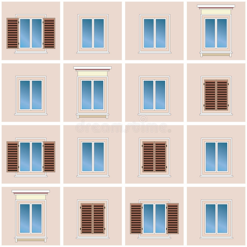 Seamless Background Of The Classic Building Facade Royalty Free Stock Photos