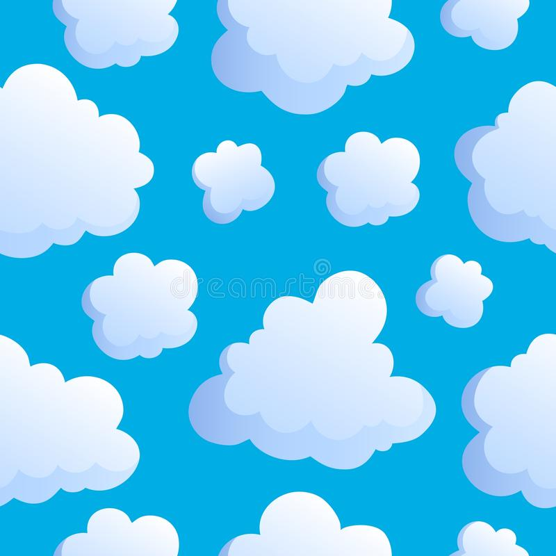 Seamless Background With Clouds 2 Royalty Free Stock Image