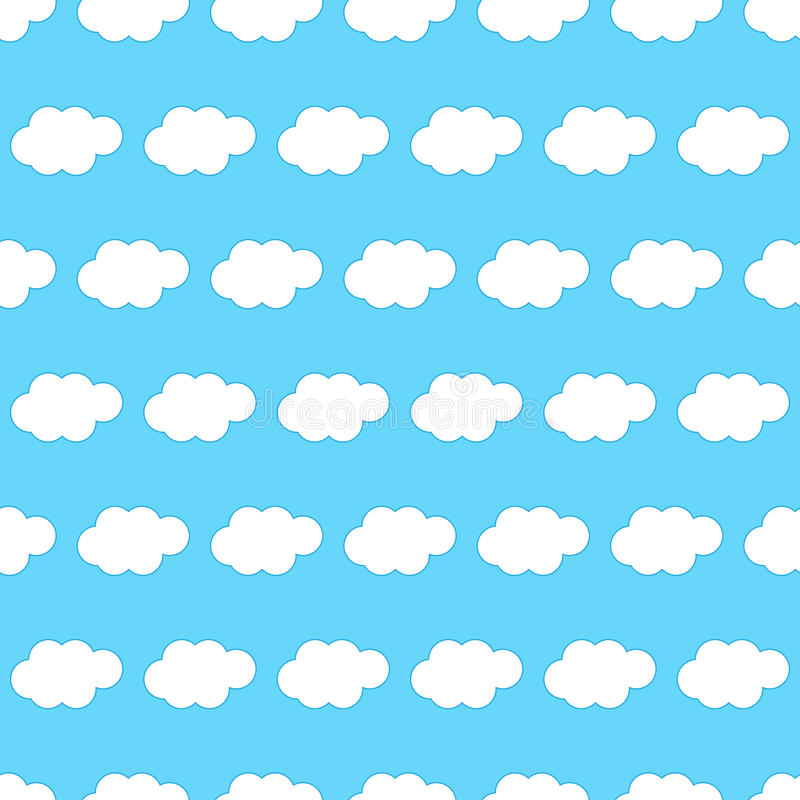 Download Cloud seamless background stock vector. Image of outdoor - 29951338
