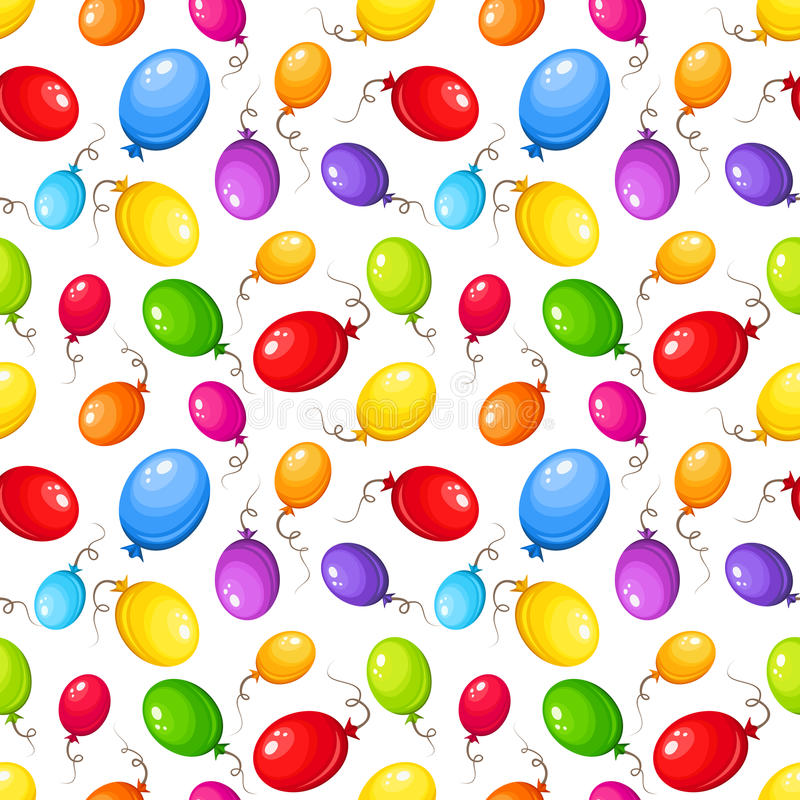 Seamless Background With Colorful Balloons. Vector