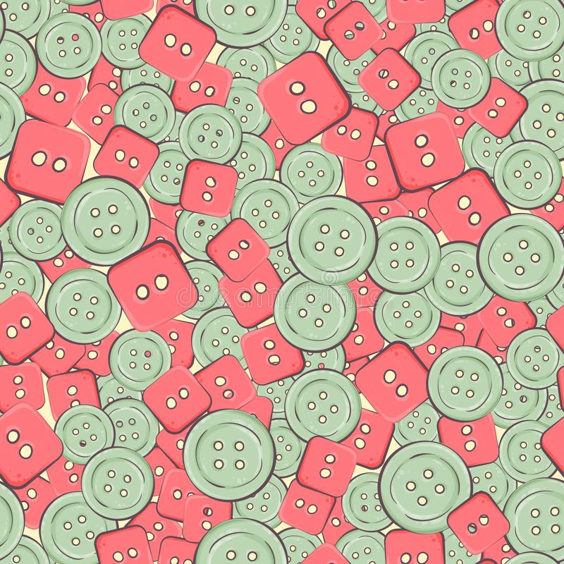Seamless background with colorful buttons. vector illustration royalty free illustration