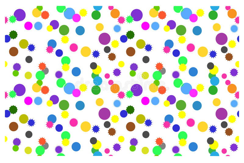 Seamless background with colorful circles on a white background stock illustration