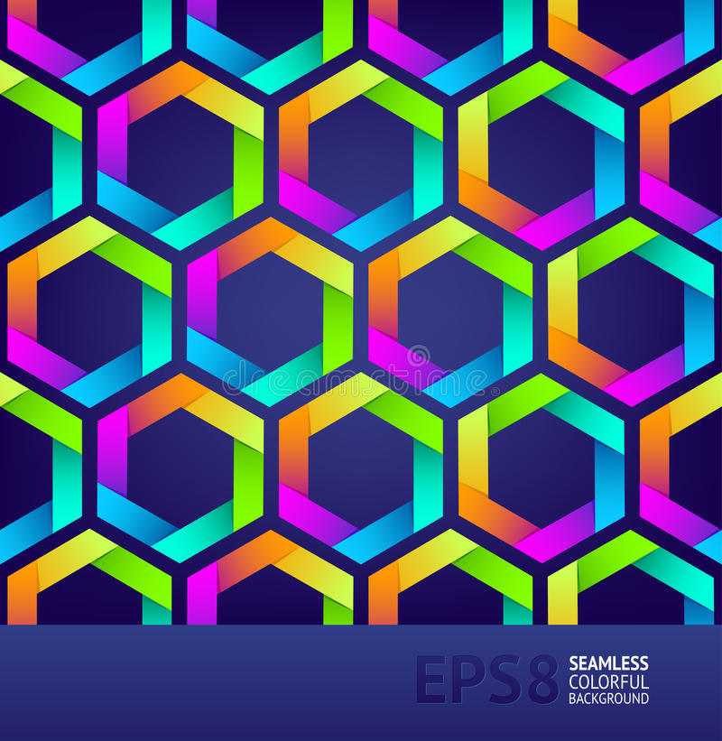Download Seamless Background With Colorful Hexagons Stock Vector - Image: 20748040