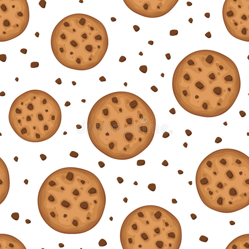 Seamless background with cookies. Vector illustration. Vector seamless background with round cookies on a white background vector illustration