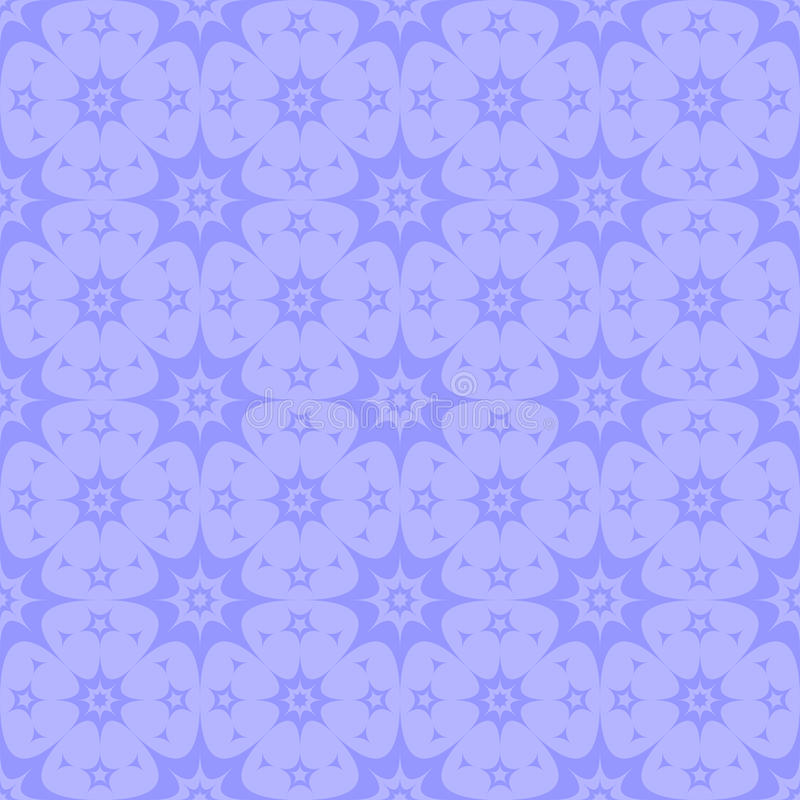 Seamless background of curved purple stars stock images