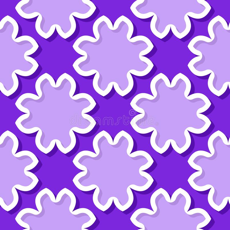 Seamless background with 3d floral violet and lilac elements vector illustration