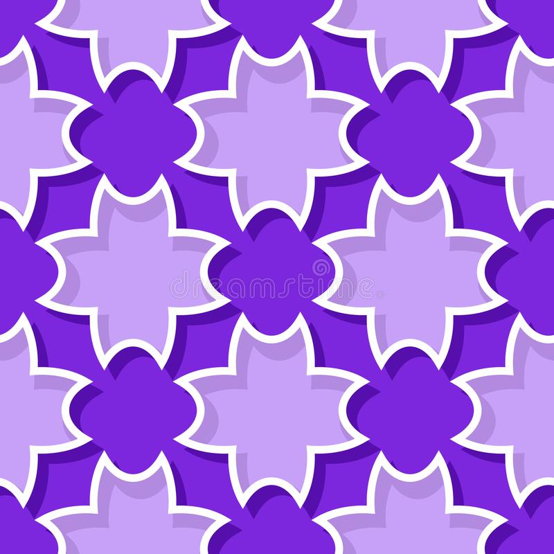 Seamless background with 3d floral violet and lilac elements royalty free illustration