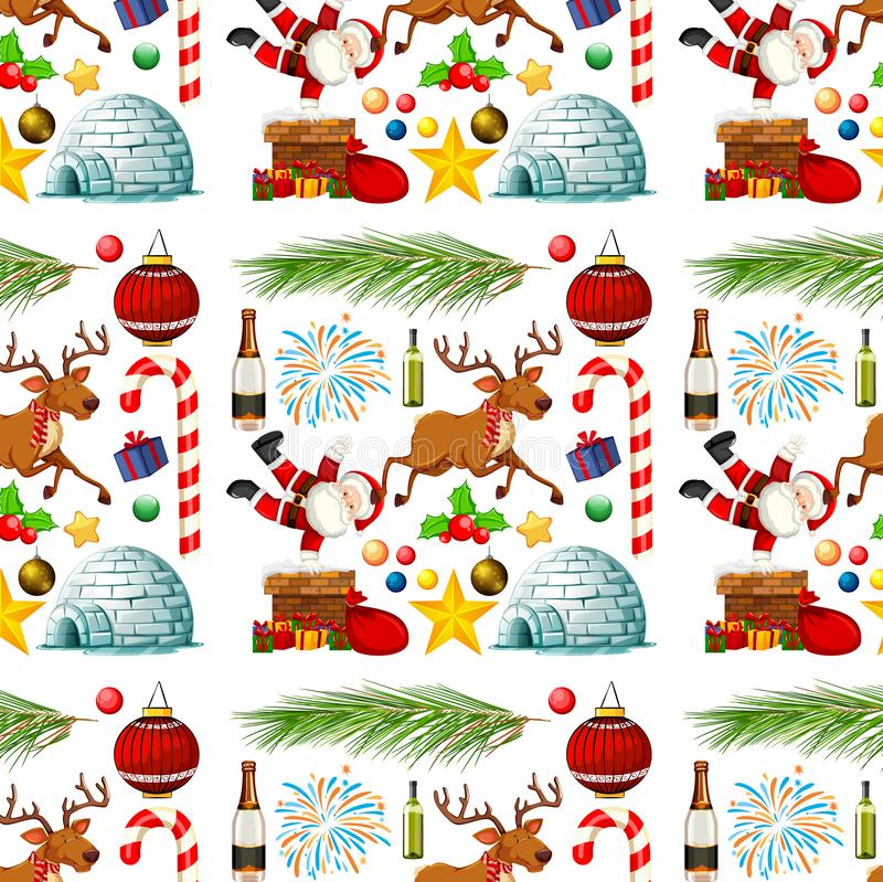 Seamless background design with christmas theme royalty free illustration