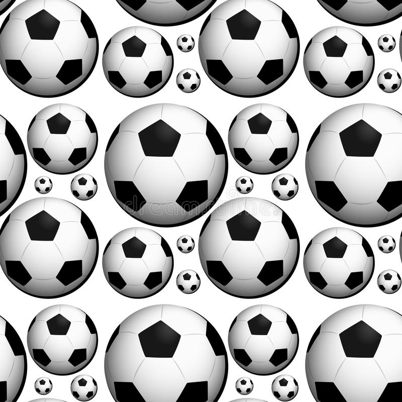 Seamless background design with footballs royalty free illustration