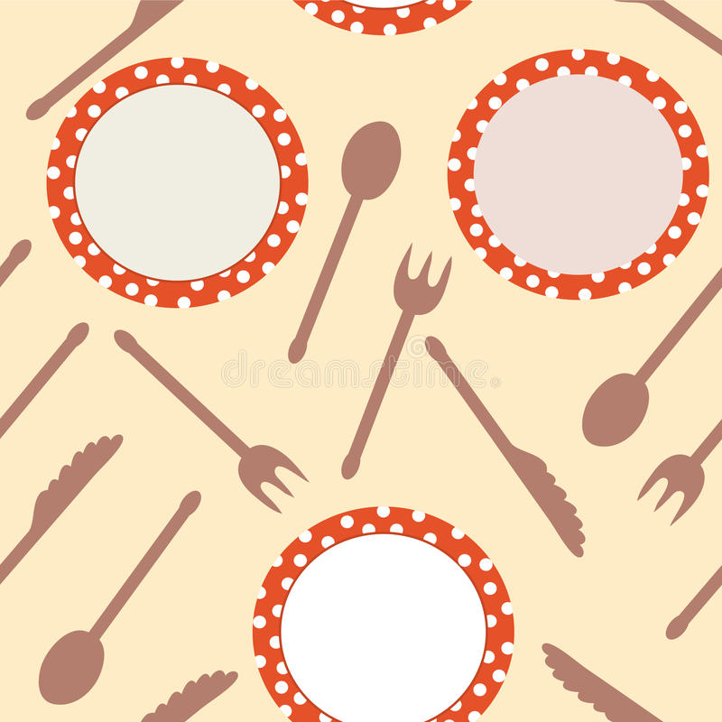 Download Seamless Background With Dishes Stock Vector - Image: 14258949