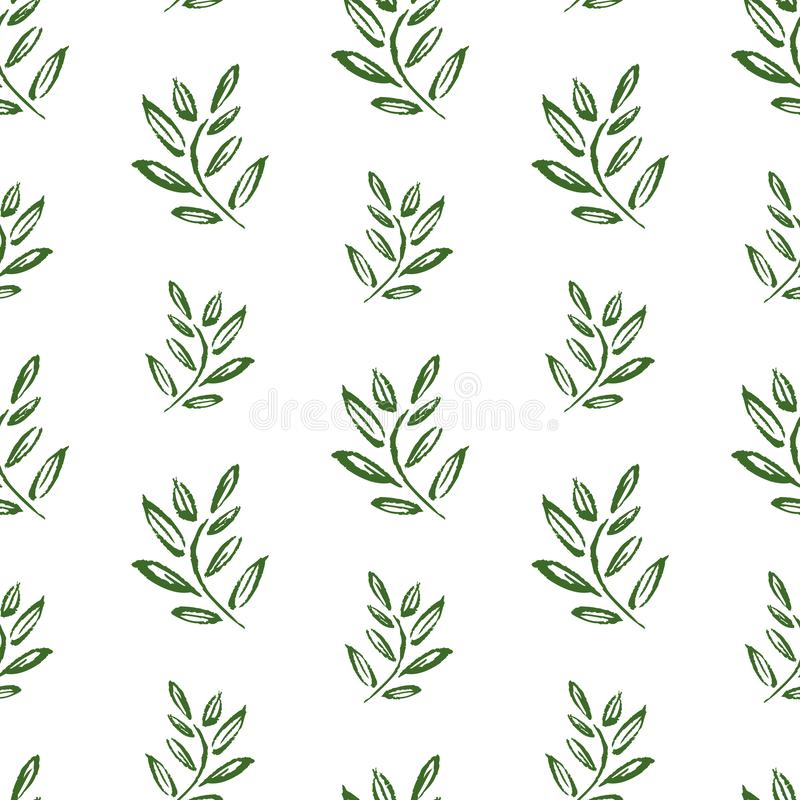 Seamless background of drawn twigs royalty free illustration