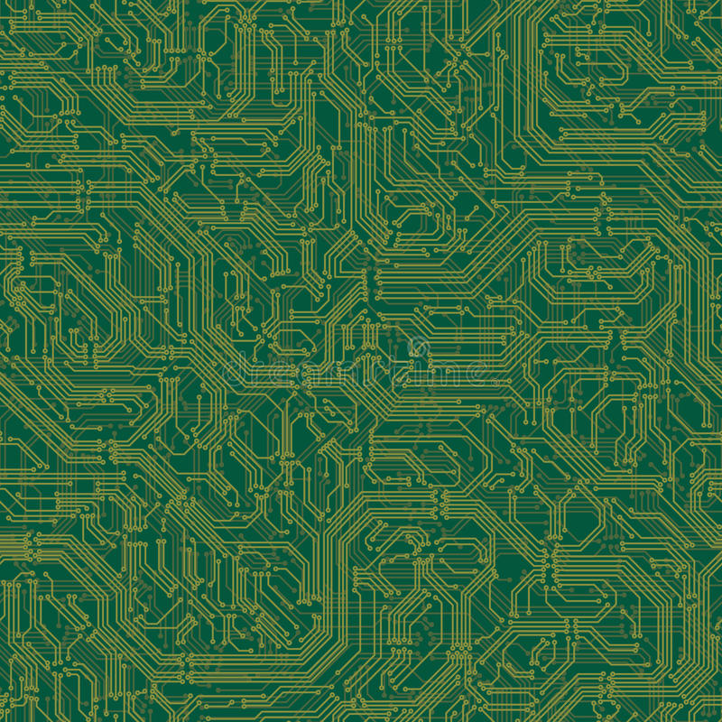 Seamless background of electrical circuit board. royalty free illustration