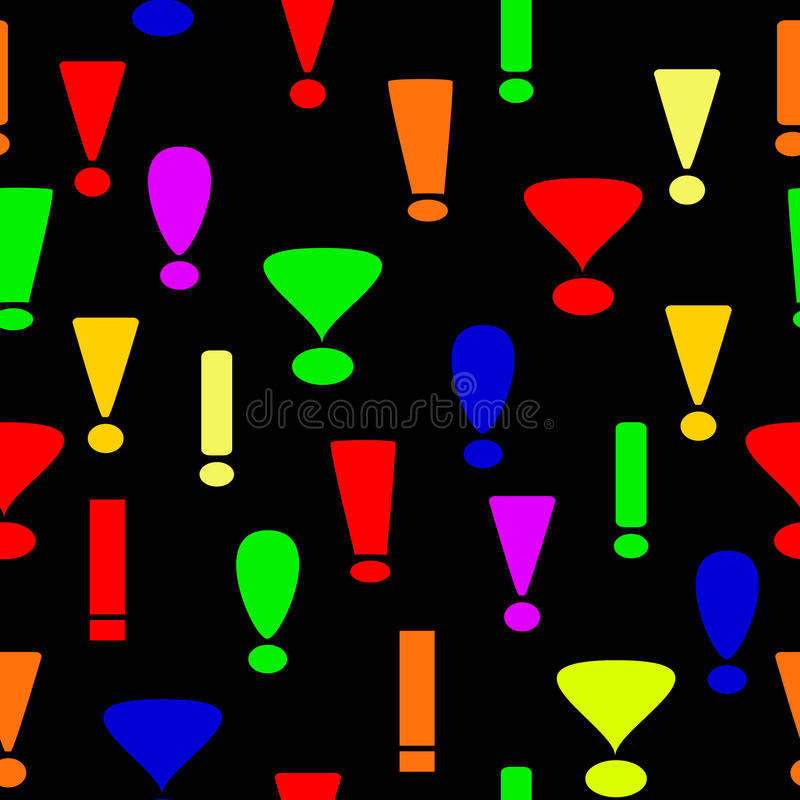 Download Seamless Background From Exclamation Marks Stock Vector - Image: 11268606