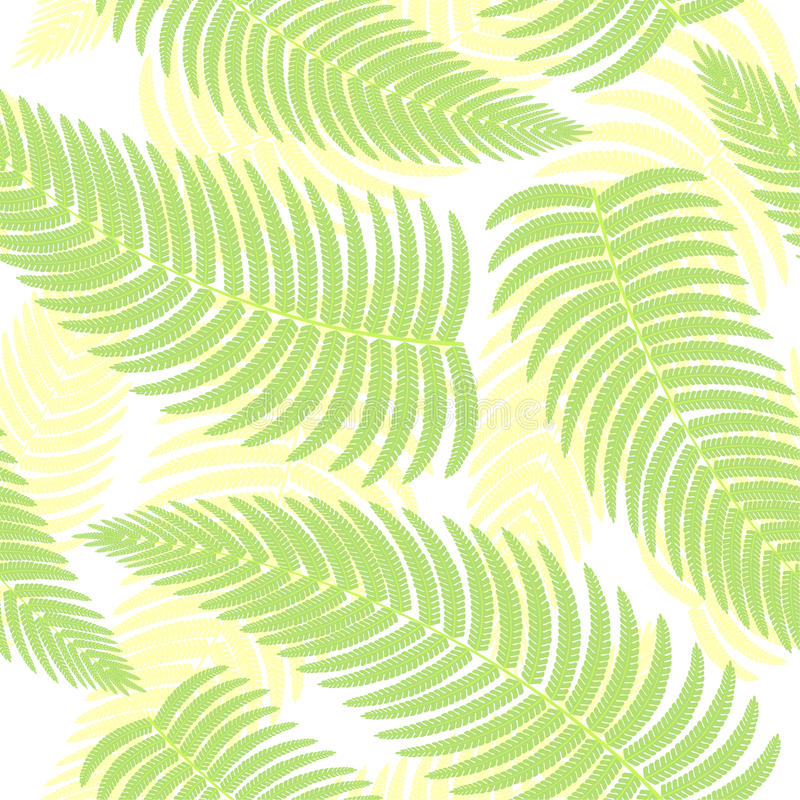 Seamless background with ferns. stock illustration