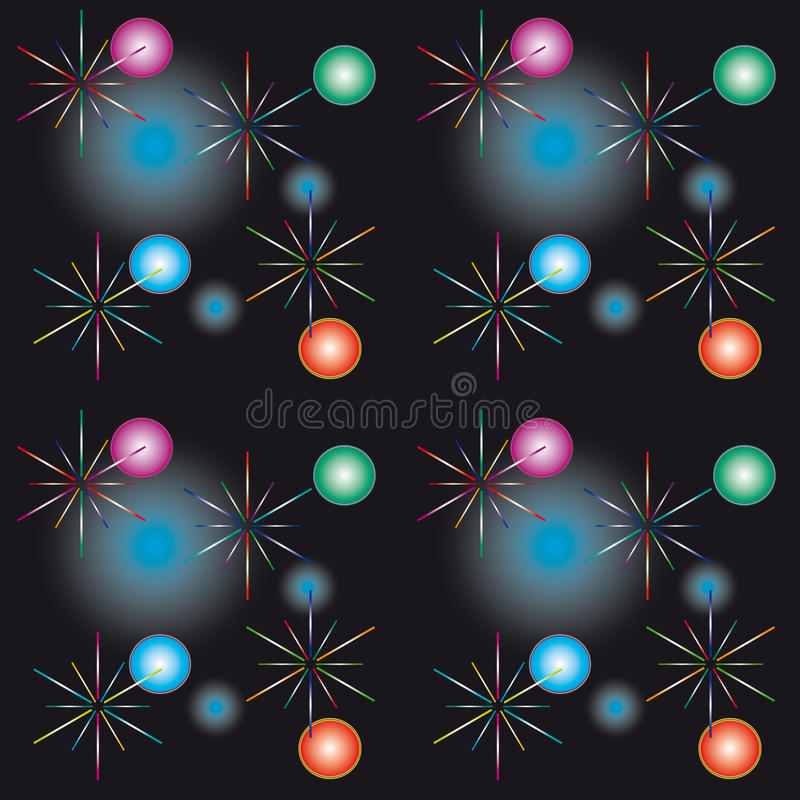 Seamless background with festive lights stock illustration