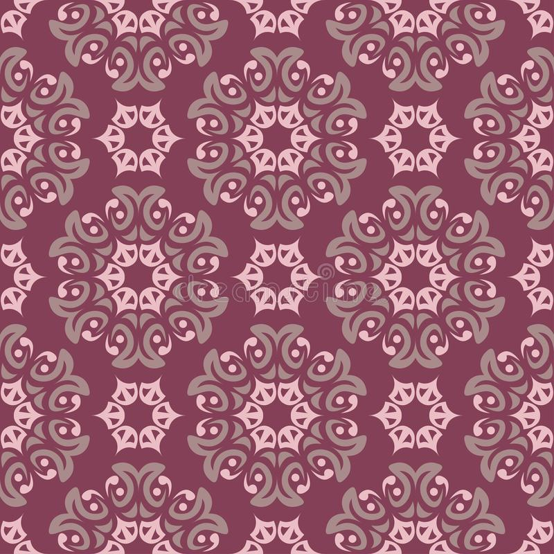 Seamless background. Floral purple red pattern royalty free illustration